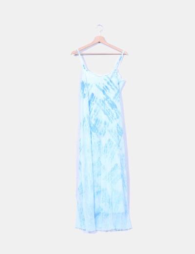 Maxi vestido azul de tirantes Unit