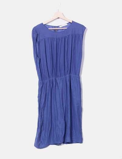 Vestido azul manga sisa