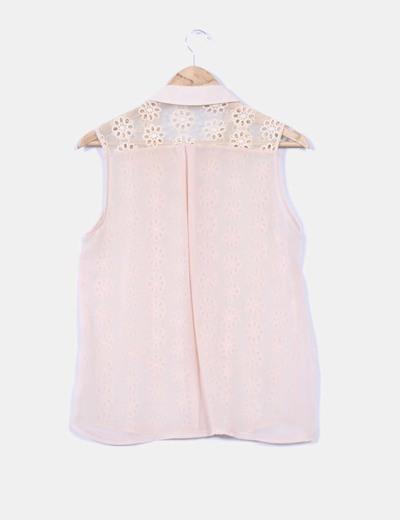 Blusa combinada crochet