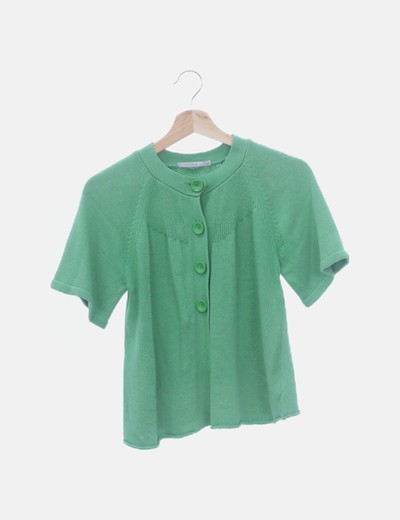 Chaqueta verde abotonada