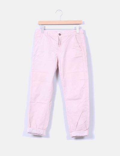 Pantalón baggy rosa palo Bershka