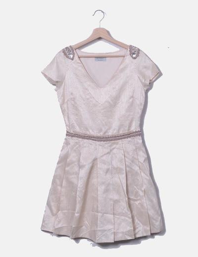 Vestido satinado detalle pedrería Privée