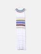 Maxi vestido bordado combinado Missoni