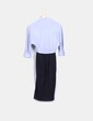 Robe bleu chemise et jupe midi COS