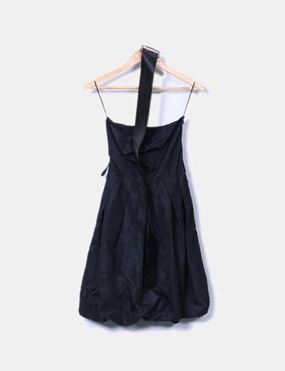 Robe noire abullonado ballon Zara