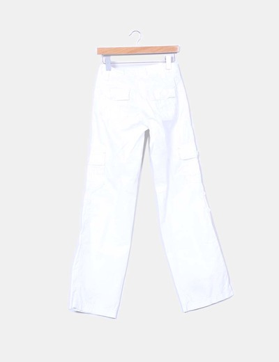 Pantalon deportivo blanco recto