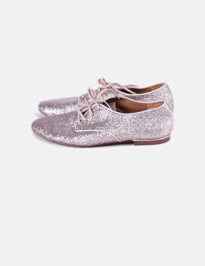Zapato rosa glitter