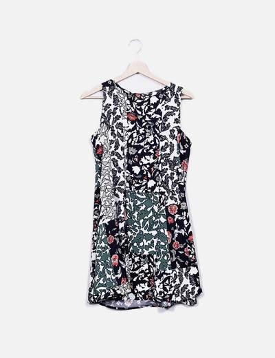 Vestido pichi estampado Zara