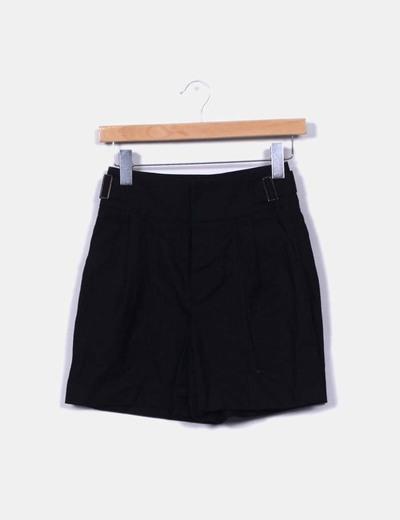 Pantalón lino negro Maje