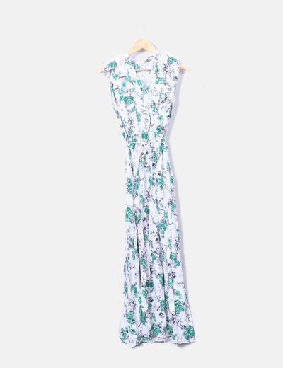 Vestido maxi con print floral
