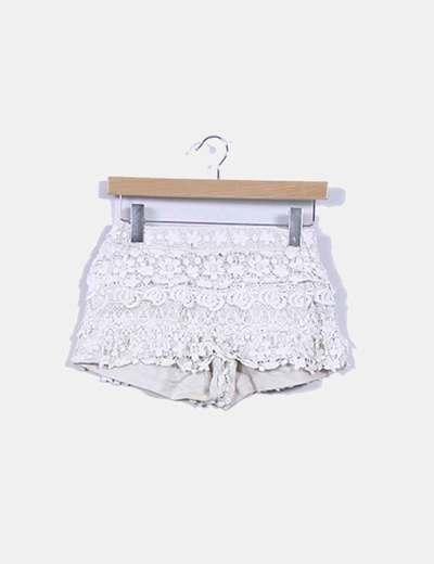 Short beige de corchet Zara