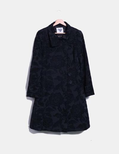 Abrigo negro texturizado Fashion House