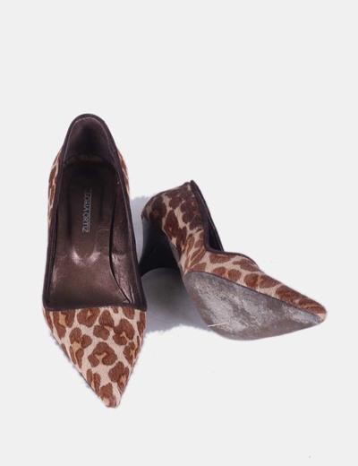 Zapatos kitten heels pelo print leopardo 9