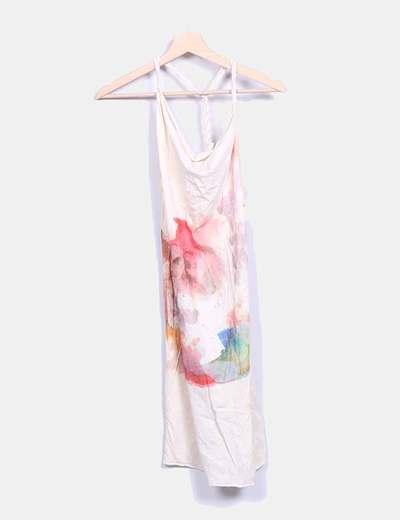 Vestido beige print