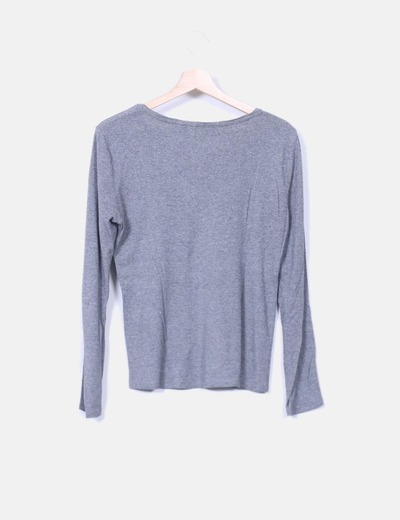 Camiseta basica algodon gris