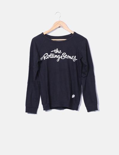 Camiseta negra manga larga Pull&Bear