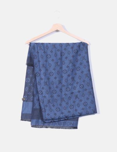 Louis Vuitton Écharpe bleue avec logo (réduction 74%) - Micolet 354a052a9b7