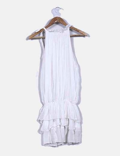 Vestido blanco cuello halter