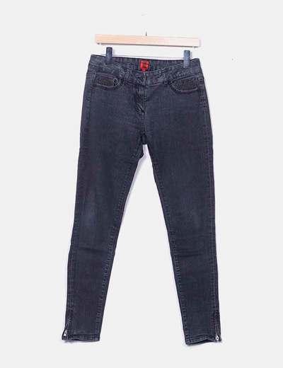 Jeans noirs avec clous Pedro del Hierro