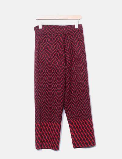 Pantalon rouge en laine Bimba&Lola
