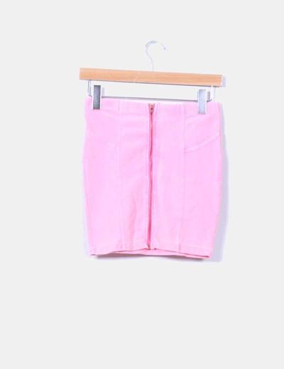 Mini falda rosa fluor
