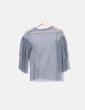 Blusa tul gris Zara