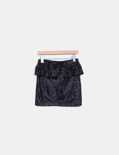 Mini falda lentejuelas negras