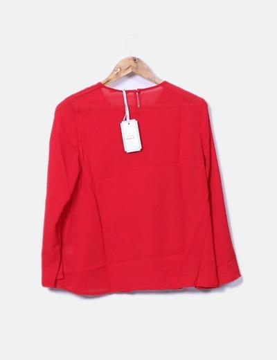 Blusa roja peplum