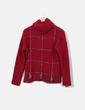 Jersey rojo cuello vuelto Zara