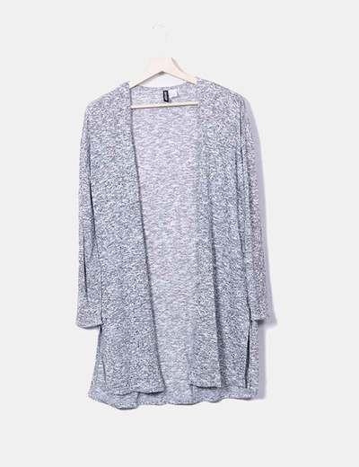 Casaco de tricô cinza H&M