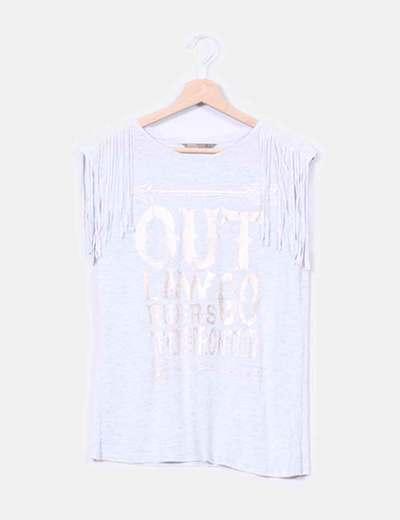 Camiseta detalle flecos Sfera