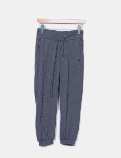 Pantalón baggy gris jaspeado