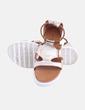 Sandalia marrón combinado dorado Fórmula Joven