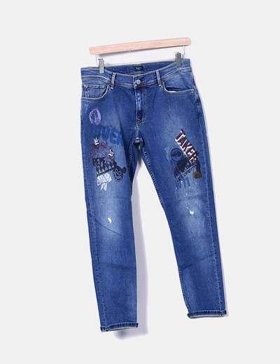 Jeans denim print Pepe Jeans