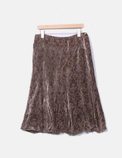 9661a2b99 Cortefiel Falda midi terciopelo marrón (descuento 89 %) - Micolet