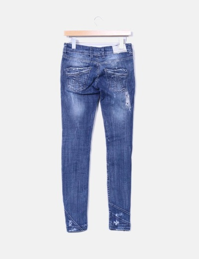 Pantalon pitillo azul oscuro