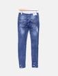 Pantalon bleu foncé ajusté Bershka