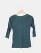 Camiseta verde manga francesa Stradivarius