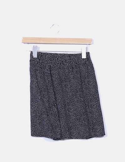Mini falda negra topos blancos Melville