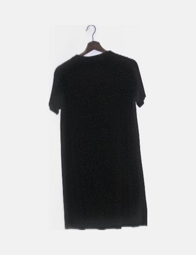 Vestido negro fluido motas