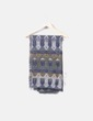 Maxi bufanda azul estampada NoName