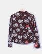 Camisa marrón estampado floral Laga