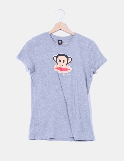Top gris manga corta Paul Frank