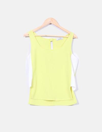 Camiseta lima y blanca Pull&Bear