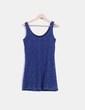 Vestido de tirantes azul combinado con crochet Shana