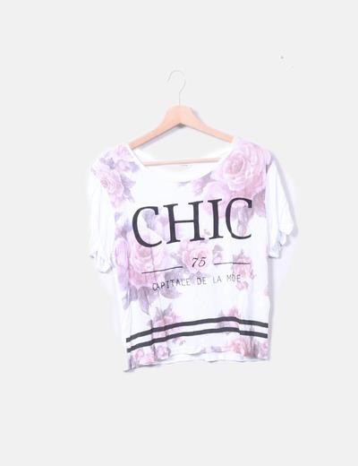 Camiseta blanca mensaje