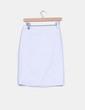 Falda tubo blanca  estampado rayas finas H&M