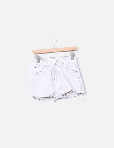 Short gris en jeans effiloché Levi's