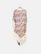 Cárdigan con estampado floral combinado con flecos ZAPA WOMAN