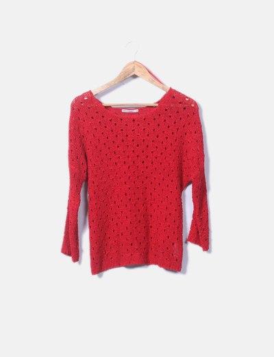 Jersey rojo calado